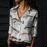 California Grunion, Pike Killfish - Marine Life Cotton And Linen Casual Shirt KH010223
