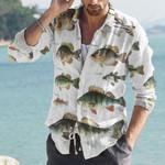 Mekong Catfish, Pungas Catfish - Marine Life Cotton And Linen Casual Shirt KH010227