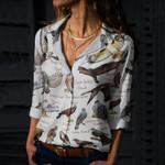 Hawks Of North America  - Birdwatching  - Bird Cotton And Linen Casual Shirt KH010201