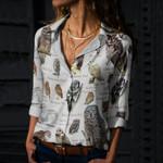 Owls Of North America - Birdwatching - Bird Cotton And Linen Casual Shirt KH010202