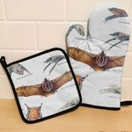 Greater Mouse Tailed Bat - Bats Oven Mitts and Pot Holder Set KH250120