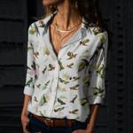 Hummingbird Cotton And Linen Casual Shirt QA020212
