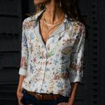 Coral Reefs Cotton And Linen Casual Shirt QA020217