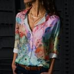 Great Barrier Reef Cotton And Linen Casual Shirt QA020203