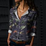 Sea Turtles Of The World Cotton And Linen Casual Shirt QA020220