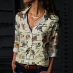 Kangaroos And Wallabies Cotton And Linen Casual Shirt QA020221