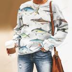 Rainbow Runner, Remora - Marine Life Unisex All Over Print Cotton Sweatshirt KH010208