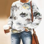 Clown Triggerfish, Queen Triggerfish - Marine Life Unisex All Over Print Cotton Sweatshirt KH010213