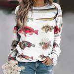 Rice Eel, Redfish - Marine Life Unisex All Over Print Cotton Sweatshirt KH010214