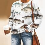 Nile Perch, Murray Cod - Marine Life Unisex All Over Print Cotton Sweatshirt KH010215