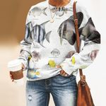Archerfish, Bermuda Chub - Marine Life Unisex All Over Print Cotton Sweatshirt KH010217