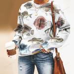 Discus Fish, Kelp Perch - Marine Life Unisex All Over Print Cotton Sweatshirt KH010218