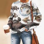Atlantic Footbalfish, Longlure Frogfish - Marine Life Unisex All Over Print Cotton Sweatshirt KH010219