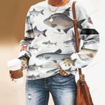 Dace, Bream - Marine Life Unisex All Over Print Cotton Sweatshirt KH010220