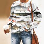 Tiger Barb, Electric Eel - Marine Life Unisex All Over Print Cotton Sweatshirt KH010221