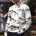 White Seabass, Black Drum - Marine Life Unisex All Over Print Cotton Sweatshirt KH010222