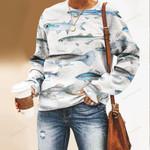 California Grunion, Pike Killfish - Marine Life Unisex All Over Print Cotton Sweatshirt KH010223