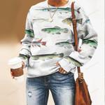 Atlantic Surrey, Ricefish - Marine Life Unisex All Over Print Cotton Sweatshirt KH010225