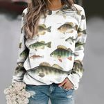 Greater Soapfish, Tigerfish - Marine Life Unisex All Over Print Cotton Sweatshirt KH010226