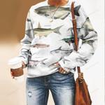 Mekong Catfish, Pungas Catfish - Marine Life Unisex All Over Print Cotton Sweatshirt KH010227