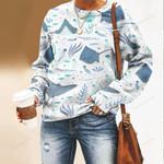 Ray - Marine Life Unisex All Over Print Cotton Sweatshirt KH010228