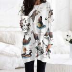 Ducks Of North America Pocket Long Top Women Blouse KH020202