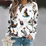 Ducks Of North America Unisex All Over Print Cotton Sweatshirt KH020202