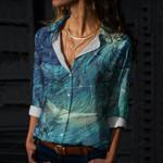Ocean Life Cotton And Linen Casual Shirt CH030206