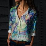 Ocean Life Cotton And Linen Casual Shirt CH030210