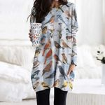 Backyard Bird Of North America Pocket Long Top Women Blouse CH030209