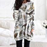 Hawks Of North America Pocket Long Top Women Blouse CH030211