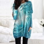 Fish Pocket Long Top Women Blouse CH030214