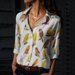 Birds - Birdwatching Cotton And Linen Casual Shirt KH030201