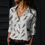 Hummingbirds Cotton And Linen Casual Shirt QA030207