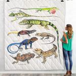 Green Anole, Forest Iguana - Lizard - Reptile Blanket KH250110
