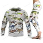 Green Anole, Forest Iguana - Lizard - Reptile Hoodie + Leggings KH250110