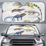 Green Anole, Forest Iguana - Lizard - Reptile Car Sunshade KH250110