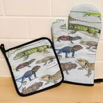 Green Anole, Forest Iguana - Lizard - Reptile Oven Mitts and Pot Holder Set KH250110