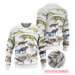 Green Anole, Forest Iguana - Lizard - Reptile Ugly Sweaters KH250110