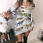 Green Anole, Forest Iguana - Lizard - Reptile Criss Cross Sweater Dress KH250110