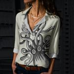 Big Squid Cotton And Linen Casual Shirt QA030210