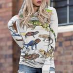 Green Anole, Forest Iguana - Lizard - Reptile Sweatshirts Round Neck Pullover KH250110