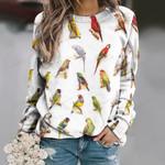 Parrot - Birds - Birdwatching Unisex All Over Print Cotton Sweatshirt KH030202