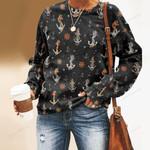 Nautical Anchors - Marine Life Unisex All Over Print Cotton Sweatshirt KH030203