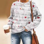 Nobody Fights Alone Nurse Unisex All Over Print Cotton Sweatshirt KH030208