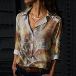 Dragon Cotton And Linen Casual Shirt CH040209