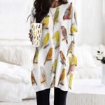 Birds - Birdwatching Pocket Long Top Women Blouse KH030201