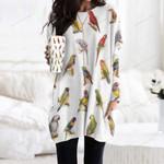 Parrot - Birds - Birdwatching Pocket Long Top Women Blouse KH030202