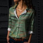 Crocodilians Cotton And Linen Casual Shirt QA040206