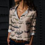 Alligators Of The World Cotton And Linen Casual Shirt QA040208